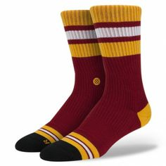 Stance | Little Havana Black, Red, Yellow, Maroon socks | Buy at the Official website Main Website.