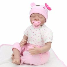 "22""  Reborn Baby Dolls Vinyl Silicone Baby Doll Real Life Newborn Birthday Gifts"