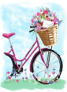 Скрапбукинг, рукоделие, Картинки с велосипедами