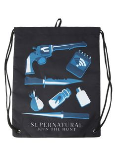 Supernatural Icons Cinch Back Sack | Hot Topic