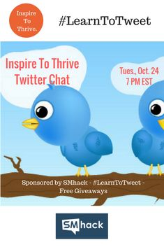 Many people do not know how to use Twitter still today. Entrepreneurs need help with this. This upcoming Twitter chat will help you to learn to tweet for your small business, and to gain leads and ...