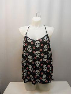 Junior Fashion Gothabilly Skull Print Punk Fashion Punk Girls Clubwear