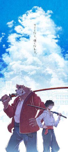 The Boy and the Beast #Kumatetsu #Kyuta (by ふーらい)