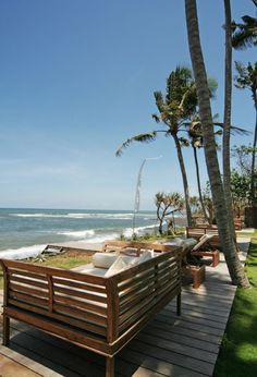 Villa Maya, Bali  the beach deck... I can see myself right there!
