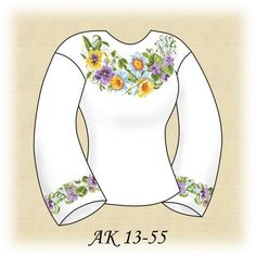 Заготовка к вышиванке женской АК 13-55 Д