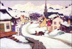 Résultats de recherche d'images pour « the train baie st-paul clarence gagnon Stretched Canvas Prints, Canvas Art Prints, Canvas Wall Art, Canadian Painters, Canadian Artists, Clarence Gagnon, Baie St Paul, Art Inuit, Of Montreal