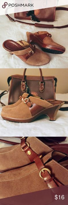 Gen. Leather Cole Haan Buckle Heels Wedges Pumps Cole Haan brand heels wedges pumps. Brown / tan color. Gorgeous shoes!!!!!! Worn once!!!!! 1 inch heel. So comfortable! AMAZING shoes. Size 7 1/2. Made in Brazil. Truly authentic and classy addition to your wardrobe :):) Buy three plus items and get 30% off entire purchase!! Cole Haan Shoes