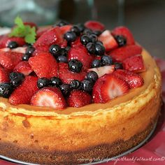 Ina Garten's Mixed Berry Cheesecake