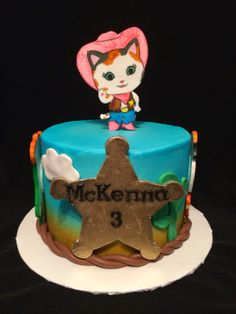 Leilani's Heavenly Cakes: Sheriff Callie Cake Sheriff Callie Birthday, Cowgirl Birthday, Bday Girl, Farm Birthday, 4th Birthday Parties, Birthday Cakes, Birthday Ideas, Rodeo Party, Cowgirl Party