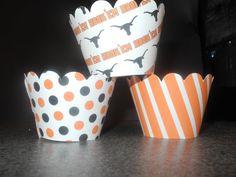Longhorn cupcake wrappers!