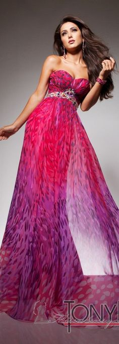 Tony Bowls Strapless Gown..Great Colors 2013