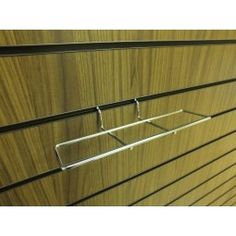 Slatwall metal shoe display:  This slatwall shoe display slots easily into your slatwall panel to create a side facing shoe or boot display. Perfect for your slatwall gondolas and slatwall display stands too.