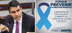 Souto propõe Semana estadual de prevenção e combate ao câncer de cólon e de reto