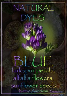 BLUE - larkspur petals, alfalfa flowers, sunflower seeds
