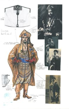 Second Hand Lions (Golden Sultan). Costume design by Ann Hould Ward. 5th Avenue, Two Hands, Costume Design, Lions, Sketches, Costumes, Cool Stuff, Theatre, Opera