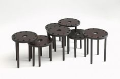 L09 - LightsOn wooden stools and designer chairs
