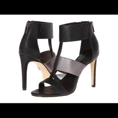 Angela Leather high heel sandal Calvin Klein Worn once! Very comfy! Strap in the middle is stretchy and holds your feet perfectly.  🚫No Trades 🚫No PayPal Calvin Klein Shoes