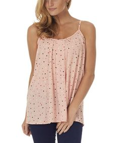 Another great find on #zulily! Light Pink Polka Dot Swing Top by Pinkblush #zulilyfinds