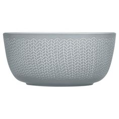 Vitro-porcelain bowl with a distressed braided finish. Made in Finland.  Product: BowlConstruction Material: Porcelai...