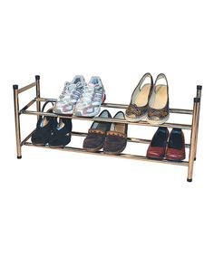 Loving this Chrome Two-Tier Expandable Shoe Rack on #zulily! #zulilyfinds