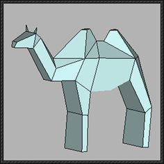 Animal Paper Model - Simple Camel Free Template Download - http://www.papercraftsquare.com/animal-paper-model-simple-camel-free-template-download.html