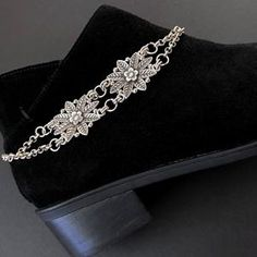 Boot Jewelry, Chunky Jewelry, Western Jewelry, Leather Jewelry, Apple Watch Leather Strap, Boot Bracelet, How To Clean Silver, Boot Bling, Boot Cuffs