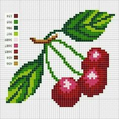 Cherry cross stitch.
