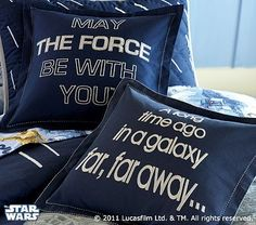 Star Wars pillows from Pottery Barn Kids. $24