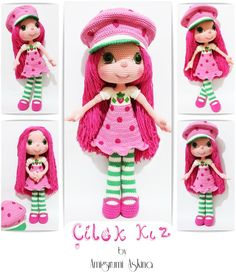 Amigurumi Strawberry Shortcake Doll. Must get Strawberry scented oil for full effect. :)