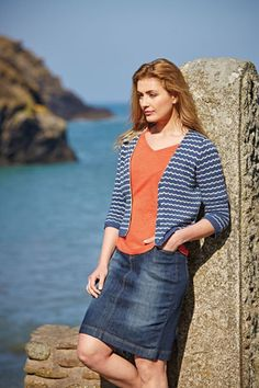 Beautiful & Practical Clothing For Women - Seasalt Cornwall Nautical Colors, Comfort And Joy, Denim Cotton, V Neck Cardigan, Denim Skirt, Beautiful Dresses, Knitwear, Women Wear, Photoshoot Ideas