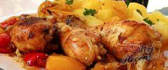 Recept Kuřecí paličky na cibuli, česneku a paprice Chicken Alfredo, Tandoori Chicken, Meat, Ethnic Recipes, Red Peppers, Beef, Alfredo Chicken
