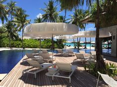 W Retreat & Spa - Maldives is a private island in a wonderland of white sand beaches, turquoise lagoons and breathtaking reefs, providing a new cutting edge, contemporary lifestyle experience and an exclusive escape. Parasols from http://www.sywawa.eu