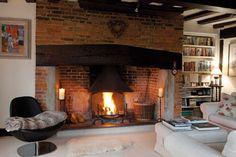 Large fireplace beam