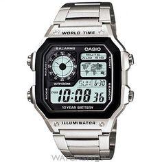 a3cf720ba Casio AE-1200WHD-1AVEF steel Digital Watch, Casio Digital, Men's Watches,