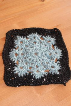 """6"""" - Woolly's snowflake square from AuntieElle's blog - crochet along"""