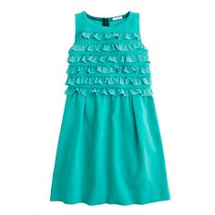 Shop the Girls' ribbon ruffle dress at J.Crew and see the entire selection of Girls' Dresses. Find Girls' clothing & accessories at J. Girls Party Dress, Girls Dresses, Dress Party, Baby Girl Fashion, Kids Fashion, Amazing Grace, Ruffle Dress, Get Dressed, J Crew