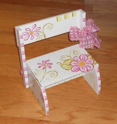 Childrens Hand Painted Flip Stools Childrens by impressionsbysusan, $54.98