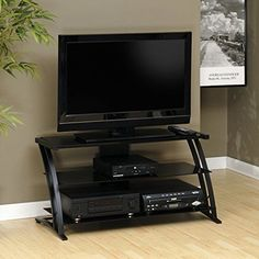 """Black TV Room Stand 42"""" Television Smart LED Plasma Entertainment Furniture Kit: $88.96End Date: Jan-07 03:41Buy It Now for… #eBay #Amazon"""