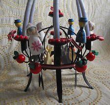 Vintage Handmade Swedish Christmas Toarpskrona Iron Candle Holder Set 1