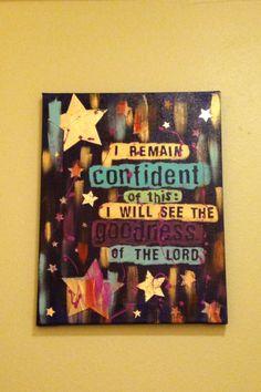 Psalm 27:13-14 #art #painting