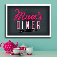 mum's kitchen 'diner' print by ink & sons | notonthehighstreet.com