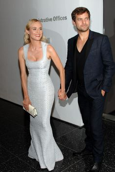 Diane Kruger in Azzedine Alaïa with Joshua Jackson at the Farewell my Queen afterparty.