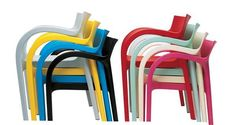 Colourful #Poppystar, chair designed by Bartoli Design for #Segis