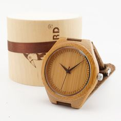 BOBOBIRD F18 japanese miyota 2035 movement wristwatches genuine leather bamboo wooden