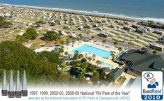 Park your RV right next to the beach at Ocean Lakes in Myrtle Beach, SC!