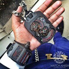 1001 Zeitdevice pocket Watch for Marcus, Urwerk by Watch Anish