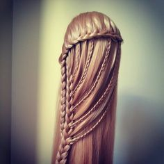 Suspended infinity braid by hairandnailsinspiration. ~~That looks soooo complicated but beautiful.~~ - Google Search