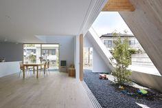 Utsunomiya House in Tochigi, Japan, plays with the concept of a gabled roof that separates the interior and outdoor spaces. http://www.homeinspiration.co.nz/building/homes/2016/02/26/minimalist-home-in-japan-blurs-interior-exterior/
