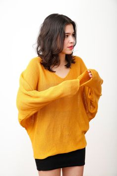 batwing jumper mustard by GoldenBanquet on Etsy. Too bad I don't do yellow!