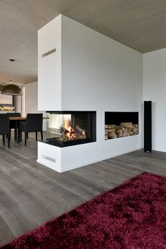 Excellent Pics Fireplace Design interior Tips Whether or not you live in Aspen o… - Wohnaccessoires Home Fireplace, Modern Fireplace, Living Room With Fireplace, Fireplace Design, Living Room Modern, Home Living Room, Living Room Designs, Living Room Decor, House Design